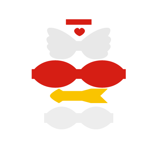 Cupid Valentines Day Bow Free SVG