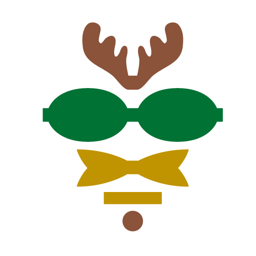Reindeer Bow Free SVG