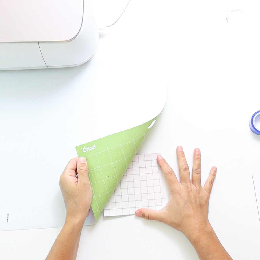 removing infusible ink transfer sheet from cricut mat