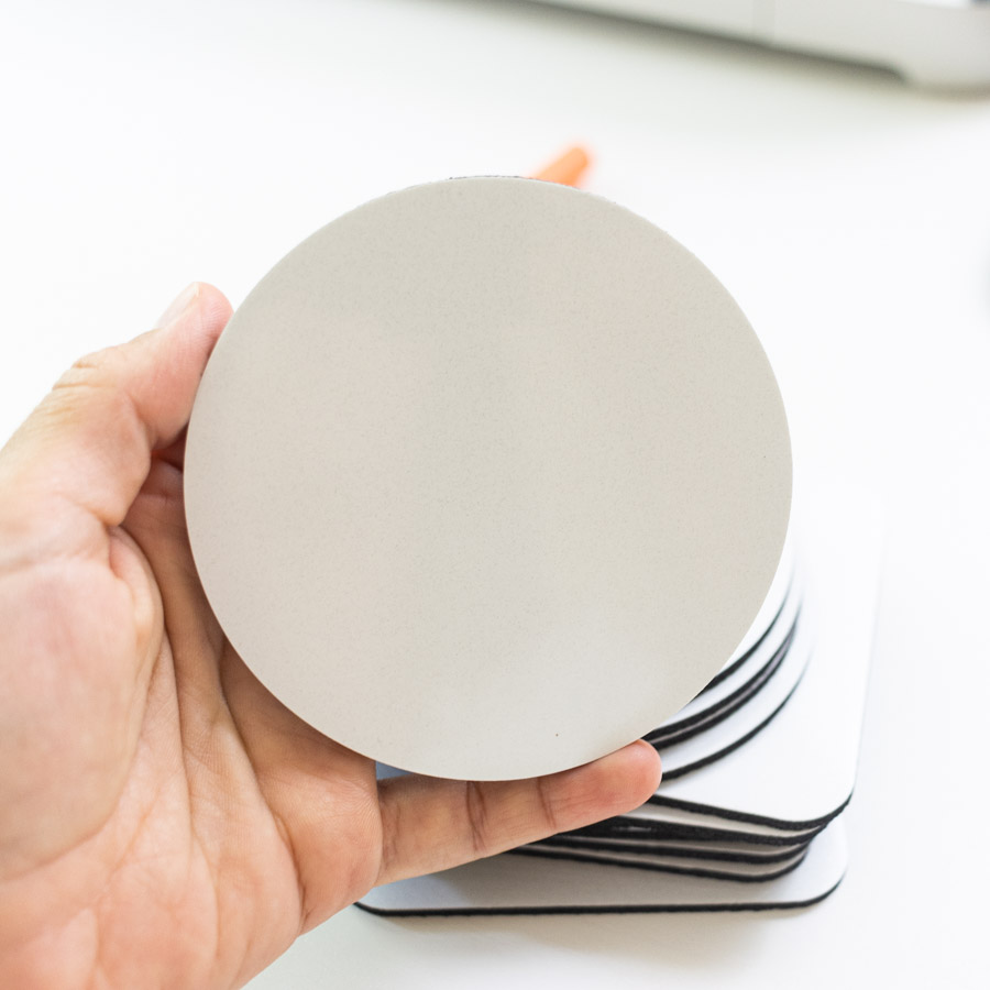 off brand circle infusible ink coaster