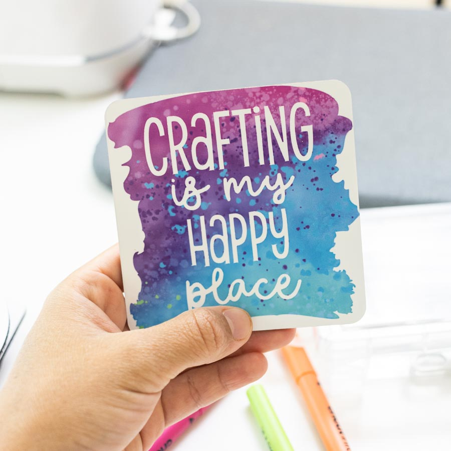 crafting is my happy place coaster