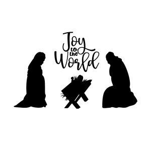 Manger Joy to the World Free SVG