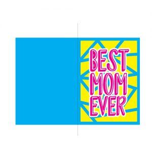 best mom ever card free svg