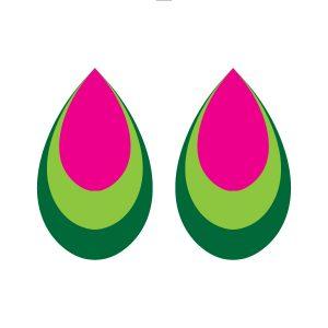 triple teardrop earring earring free svg
