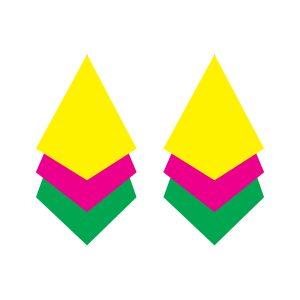 diamond shaped earring free svg