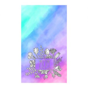 floral watercolor mother's day card free PNG template