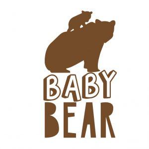 Baby Bear Free SVG-100