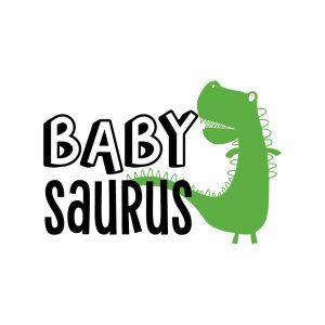Baby Saurus Free SVG-100