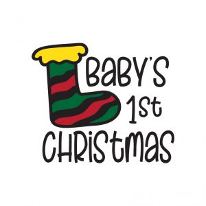 Baby's first Christmas Free SVG-100