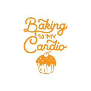 Bakinf is my Cardio - Free SVG