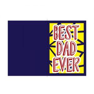 Best Dad Ever Card Free SVG