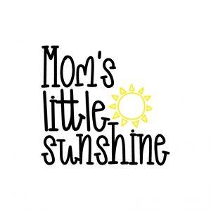 Mom's little sunshine Free SVG-100