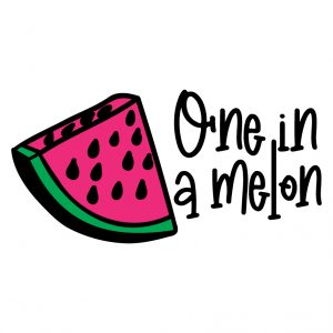 One in a melon Free SVG-100