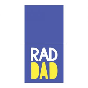 Rad Dad Card Free SVG