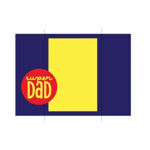 Super Dad Card Free SVG