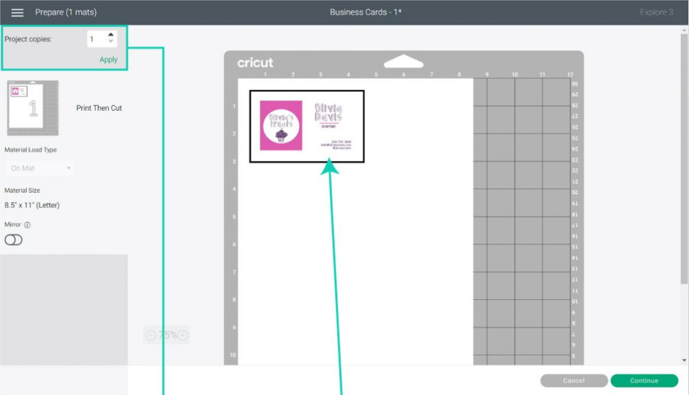 making multiple project copies in cricut design space