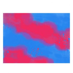 Watercolor Sheet pink and blue
