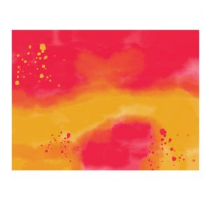 watercolor sheet orange and red